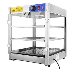 Yescom 3-Tier 110V Commercial Countertop Food Pizza Warmer 750W 24x20x20″ Pastry Display Case