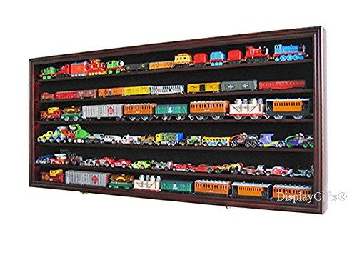 Ho Scale Train Hot Wheels Display Case Rack Cabinet Wall