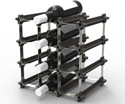 9 NOOK Wine Rack – Easy 2 Step Assembly – No Hardware Required – Capacity: 12  ...