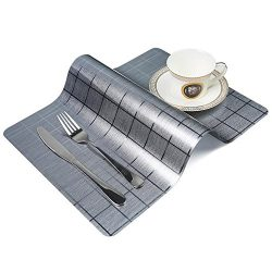 Tracy-B Placemats, PVC Placemats for Dining Table Heat Insulation Stain-resistant Anti-skid Wash ...