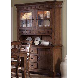 Liberty Furniture Treasures Dining Hutch & Buffet (17-DR-HB), Rustic Oak, W62 X D20 X H85