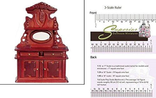 Dollhouse Miniature Victorian Mahogany Sideboard