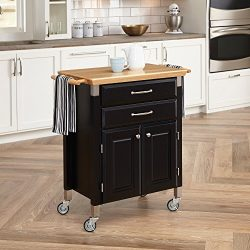 Home Styles 4508-95 Dolly Madison Prep and Serve Cart, Black Finish