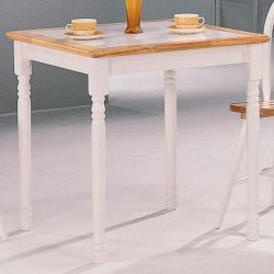 Coaster Home Furnishings Country Dining Table, Natural and White