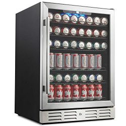 Kalamera 24″ Beverage Refrigerator 175 Can Built-in or Freestanding Single Zone Touch Control