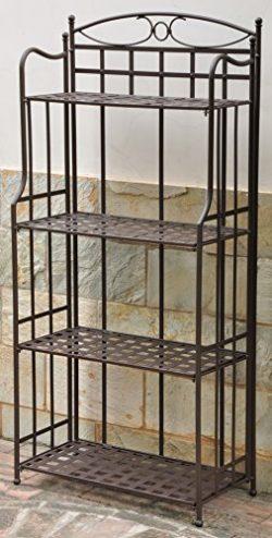Iron Outdoor/Indoor Folding Bakers Rack