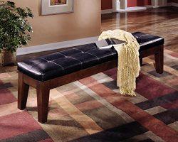 Ashley Furniture Signature Design – Larchmont Extra Large Upolstered Bench – Burnish ...