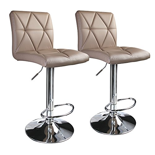 Leader Accessories Bar Stools Khaki Hydraulic Diagonal