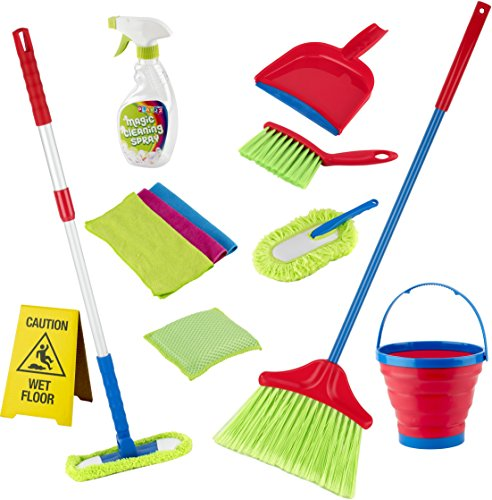 Kids Cleaning Set 12 Piece Toy Cleaning Set Includes