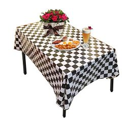 Plastic Tablecloths,OWEV 3 Pack Plastic Checkered Tablecloths for Kitchen, Dining Room or Picnic ...