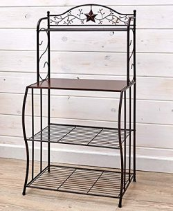 The Lakeside Collection Country Style Microwave Stand