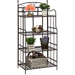 Best Choice Products Outdoor/Indoor 4-Tier Bakers Rack Storage Organizer
