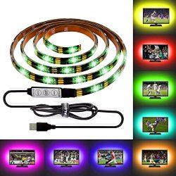 ALOTOA 59 Inch USB LED TV Strip,IP65 Waterproof 5V RGB LED TV Backlighting Strip, 4.9ft Bias Lig ...