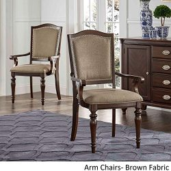iNSPIRE Q LaSalle Espresso Nail ad Accent Transitional Dining Side Chairs (Set of 2) by Classic  ...