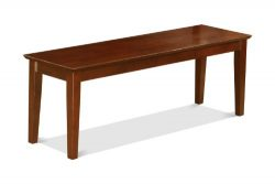 East West Furniture CAB-MAH-W Bench with Wood Seat, Mahogany Finish
