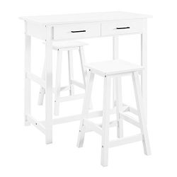 Dorel Living 3-Piece Pub Set, White