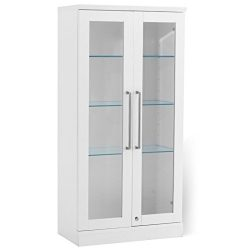 NewAge Products Home Bar Tall Wall Display Cabinet