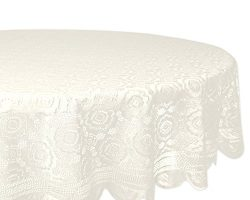 DII Home Essentials 100% Polyester, Machine Washable, Shabby Chic, Vintage Tablecloth or Overlay ...