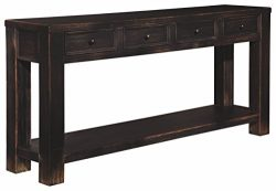Ashley Furniture Signature Design – Gavelston Sofa Table – Rectangular – Black