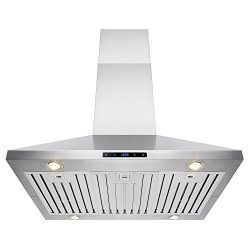 FIREBIRD 36″ Stainless Steel Island Mount Powerful Cooking Fan Kitchen Vent Range Hood