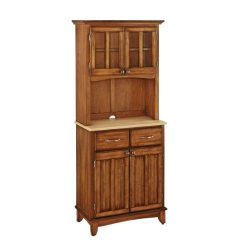 Home Styles 5001-0061-62 29-1/4-Inch 5001 Series Natural Wood Top Buffet and Hutch Storage, Cott ...