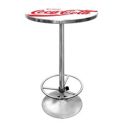 "Coca-Cola ""Enjoy Coke"" Chrome Pub Table"