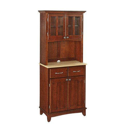 Home Styles 5001-0071-72 5001 Series with Natural Wood Top Buffet Server and Hutch, Medium Cherr ...