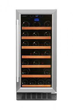 Smith & Hanks RW88SR 34 Bottle Under Counter Wine Refrigerator, 15 Inches Wide, Use Built In ...