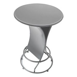 Trademark Gameroom Weatherproof Outdoor Pub Table, Silver