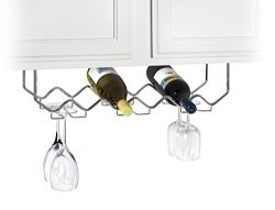 Useful. UH-GB186 Under Cabinet Stemware Holder and Wine Rack – Holds 6 Bottles/6 Stems  ...