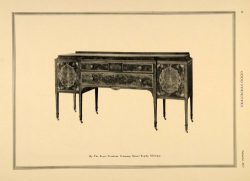 1917 Print Buffet Table Sideboard Royal Furniture Co. – Original Halftone Print
