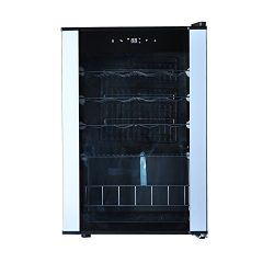 SMETA 19 Bottles Under Counter Compressor Wine Cooler Refrigerator Quite Operation,2.1 Cu ft
