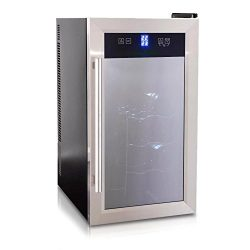 NutriChef Thermoelectric Wine Cellar – Red and White Wine Cooler- Dual Zone Wine Chiller & ...
