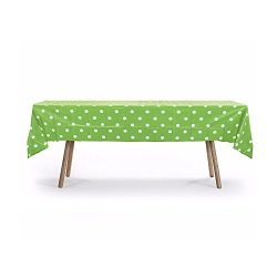 5 PACK, 54″ x 108″ Lime Green Polka Dot Rectangular Plastic Table Cover, Party Table ...