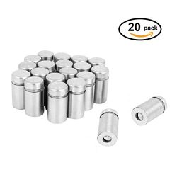 ZXHAO Stainless Steel Wall Mount Glass Standoff Advertising Screw Nail 20pcs (12×25)