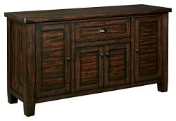 Ashley Furniture Signature Design – Trudell Dining Room Server – Solid Pine Wood Con ...