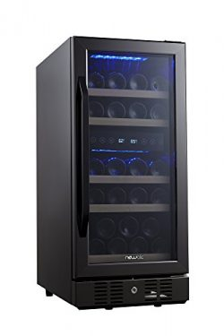 NewAir AWR-290DB-B Compact 29 Bottle Built in Wine Cooler, Black Stainless Steel