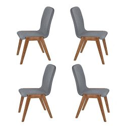 CO-Z Mid Century Modern Dinning Chairs, Modern Eames DSW Eiffel Side Chair for Kitchen (Sets of  ...