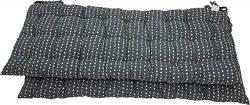 Melange 100% Cotton 44″ x 17″ Bench Cushions, Set of 2, Navy Polka Dot Print