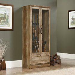 Sauder 419342 Gun Display Cabinet, Craftsman Oak Finish