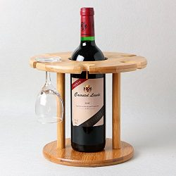 Natural Bamboo Wine Glass Holder for 6 Glasses / Wine Rack / Glass Rack