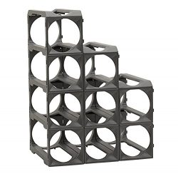 Stakrax – Stackable, Modular Wine Rack – 12 Bottle Set