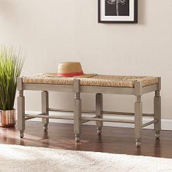 Karvina Seagrass Entryway/Dining Bench/Cocktail Table – 38″ W x 16″ D x 17.5&# ...
