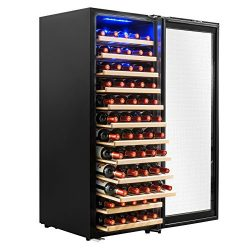 AKDY 80 Bottles Freestanding Single Zone Compressor Within Wine Cooler Cellar Refrigerator