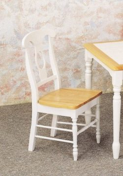 Coaster Napoleon Style Dining Chairs, Natural and White Finish, Set of 2