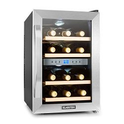 KLARSTEIN Reserva 12 Uno Wine Cellar • Cooler • Fridge • Refrigerator • 1.2 Cubic Feet • 4 Shelv ...