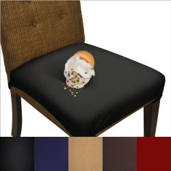 SmartSeat Dining Chair Cover and Protector – Pack of 2 – Removable, Waterproof, Mach ...
