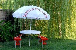 Baseball Table / Umbrella Folding Set – Good Gift Idea