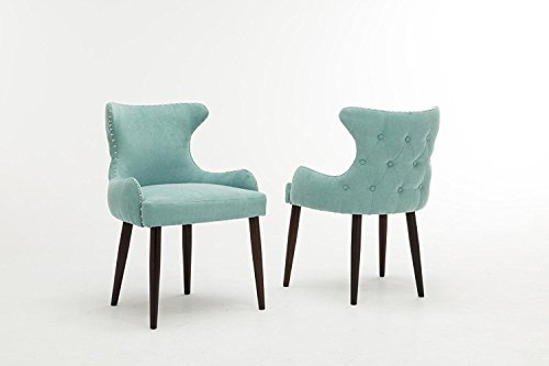 Microfiber Contemporary Dining Sofa Chair Accent Living Room Furniture SET OF 2