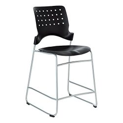 Learniture Ballard Counter-Height Stool, 24 1/5″ Seat Height, Black, LNT-TSU1034-SO (Pack  ...